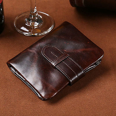 Vintage Men's Genuine Leather Wallet Card Holder Clutch Coin Slim Purse Pockets