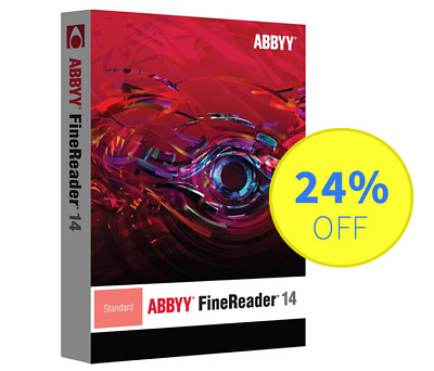 ABBYY FineReader 14 Standard - 1 User, Perpetual (Serial Number, Activation Key)