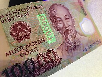 Vietnamese Dong 10000 UNC Banknote Polymer  BUY 5 GET ONE FREE! USA seller