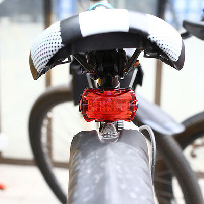 Insten 5 LED Lamp Mountain Bike Bicycle Headlight Front Rear Safety Light