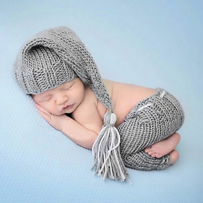 Newborn Baby Boys Girls Cute Crochet Knit Costume Photo Photography Prop Outfits