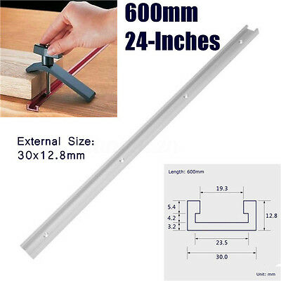 AU 600MM T-Slot Miter Track T-tracks Jig Fixture Router Table Woodworking Tool