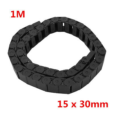 """15 x 30mm 1M Nylon Drag Chain 40"""" Towline Carrier Wire Cable CNC Machine Tool co"""