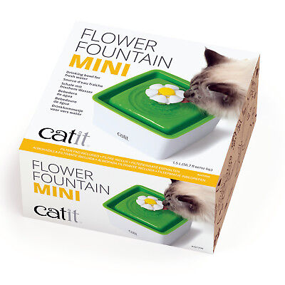 Catit Flower Fountain Mini 1.5L Clean Water 3 Settings Cat Kitten Drinking