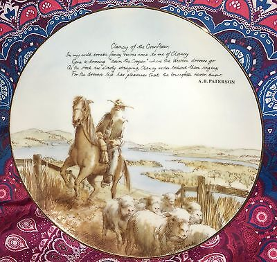 Estate Collectable  Banjo Paterson Display Plate Vintage Moliver Collection