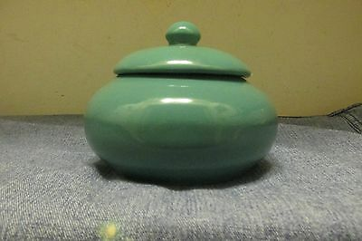 1940's 50's~Vernon Kilns~California Pottery~Teal Green~Covered Sugar Bowl~Nice**