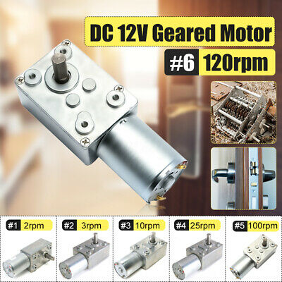 DC 12V Motor GW/GJY370 0.6-100RPM Reversible High Torque Turbo Worm Geared Motor