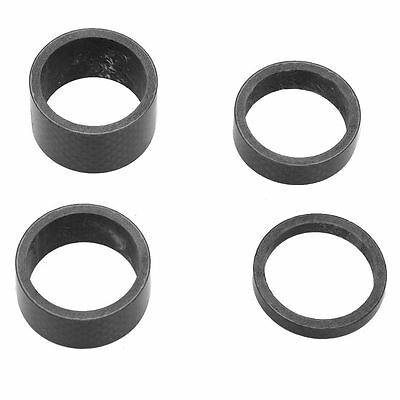 """SS Bicycle carbon spacer black A Head 1-1/8"""" carbon spacer 5/10/15/20 mm set"""