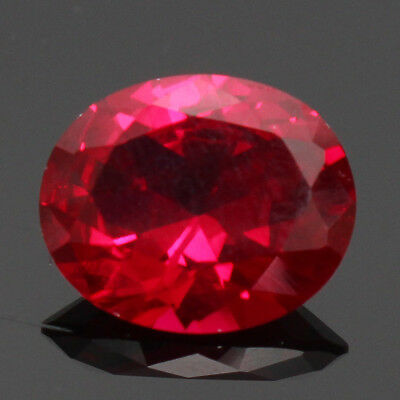 4.12CT Rubis Rouge Ovale Grenat 9X11MM  Artificiel  Pierreries Naturels