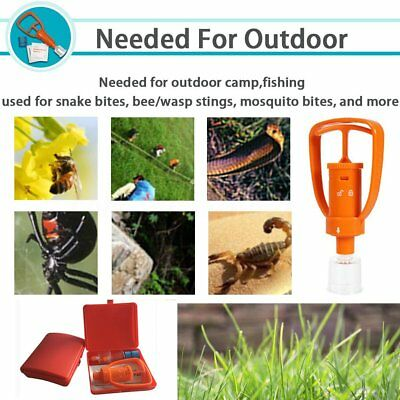 Venom Bees Bite Aid Extractor Pump Camping Hiking Emergency Survivor Safety Tool