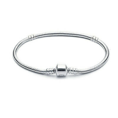 European Silver Charms Bracelet 925 Bangle Chain Fit Sterling Charm Beads Bead D