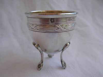 ANTIQUE FRENCH STERLING SILVER FOOTED EGG CUP,LATE 19th CENTURY.