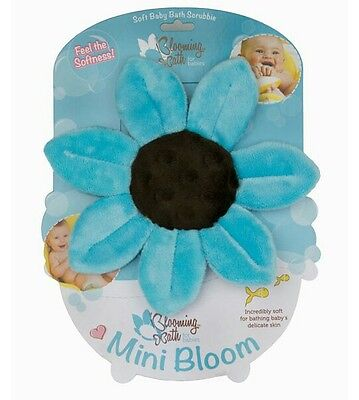 Baby Flower Scrubbies By Blooming Bath - Blue