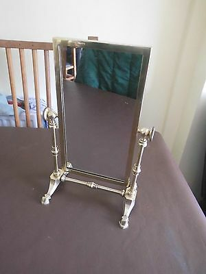 Antique/vintage brass swing dressing table mirror