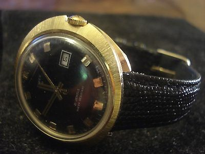 1960's TIMEX WATCH MENS VINTAGE GOLD TONE SELF WIND 21 JEWELS NICE