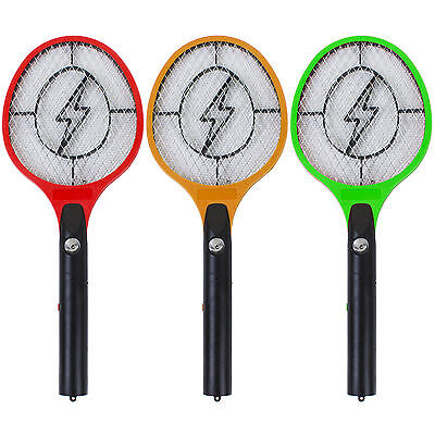 Electrical Mosquito Bat Fly Swatter Insect Killer Electric Zapper Tennis Racket