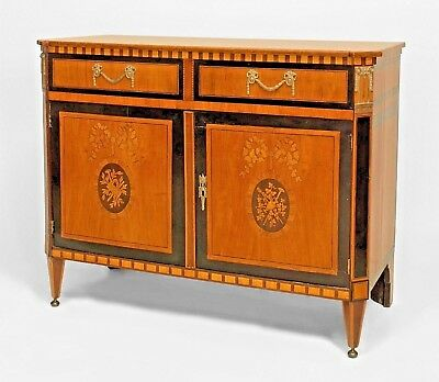 Continental Dutch Satinwood Commode Cabinet