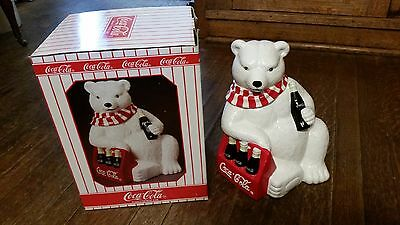 1998 Limited Edition, Coca Cola Polar Bear with six pack,  Ceramic cookie jar
