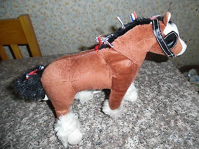 "Plush Brown Btuffed Horse   ""CLYSDALE""   (""2002"")"