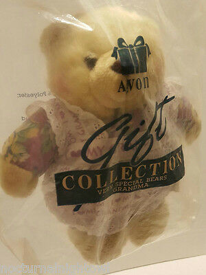 "1997 AVON Gift Collection Very Special Bears ""GRANDMA"" Stuffed Plush Teddy BEAR"
