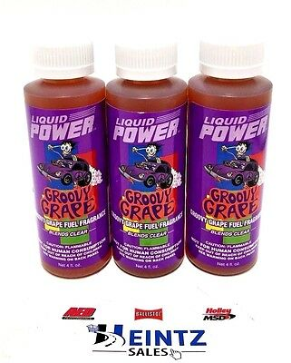 Power Plus Lubricants 3 PACK Groovy Grape Fuel Fragrance For Car Motorcycle ATV
