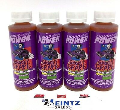 Power Plus Lubricants 4 PACK Groovy Grape Fuel Fragrance For Car Motorcycle ATV