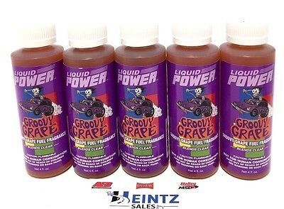 Power Plus Lubricants 5 PACK Groovy Grape Fuel Fragrance For Car Motorcycle ATV