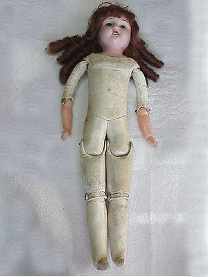 """Antique Doll Composition Head & Arms Kid Leather Body 20"""" Tall German"""