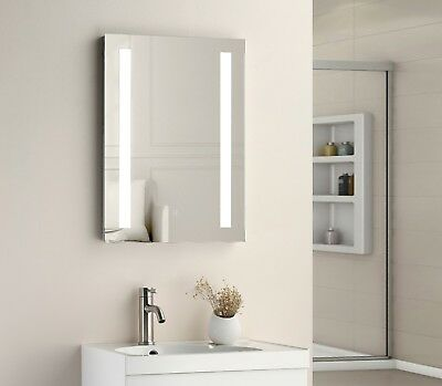 700 x 500mm LED Illuminated Touch Bathroom Mirror Demister  IP44