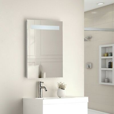Illuminated Bathroom Mirror Cabinet Shaver Socket Sensor Demister Atom