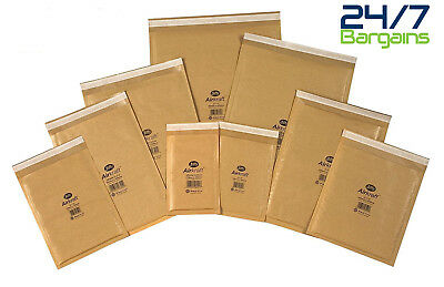 Genuine Jiffy Airkaft Gold Padded Bubble Envelopes Bags All Sizes/qty's-Gold