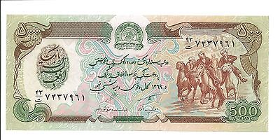 100 and 500 Afghanis Afghanistan Banknotes (uncirculated)