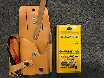 Greenlee 5715 Discharge Lamp Tester w/ Case + Leads