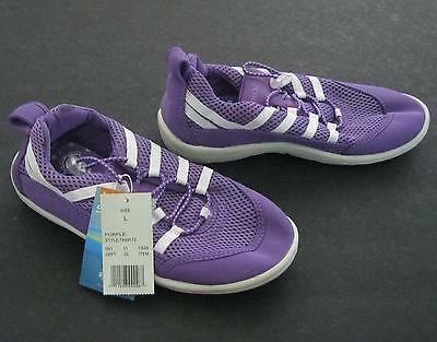 Nwt Girls Youth Purple Speedo Water Beach Shoes   Size L  4-5
