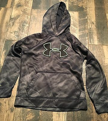 UNDER ARMOUR HOODIE SWEATSHIRT Black Boys Size YMd Medium M