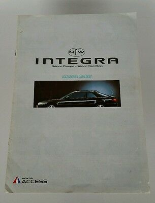 Rare 1990 Honda Integra Honda Access Dealer Accessories Catalog Brochure