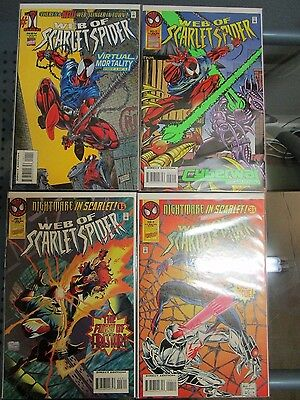 Web of Scarlet Spider #1-4 Marvel Comics Set Firestar Spider-Man 1 2 3 4
