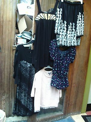 Ladies Clothing Joblot, Off Shoulder Top/black Dress/tunic For Leggings.size 10.