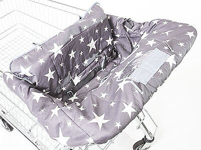 Dreamyoo 2-in-1 Grocery Cart Cover From Luxury Cotton & High Chair Cover