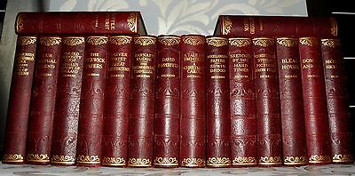 Charles Dickens 16 Book Collection Circa 1930's Hardback Books, Vintage