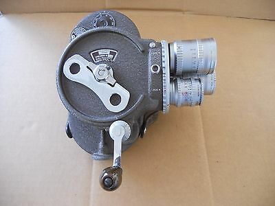 Vintage Bell & Howell 16mm 70 DR Turret Movie Camera Angenieux Lenses & acc.