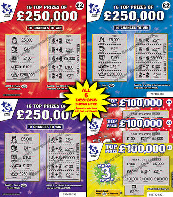 WARNING! World's Most Realistic -  FAKE JOKE LOTTERY SCRATCH CARDS TICKETS