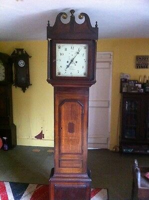 Antique 8 Day Inlayed Longcase Clock  For Restoration