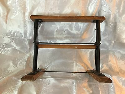 Vintage Wrought Iron and Wood Paper Cutter