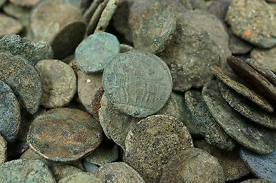 Antique Ancient Bronze Roman Coin Lot 10 Uncleaned UnSorted 100-500AD M459