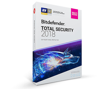 Bitdefender Total Security 2018 - 5 Devices, 2 Years (Key - Activation code)