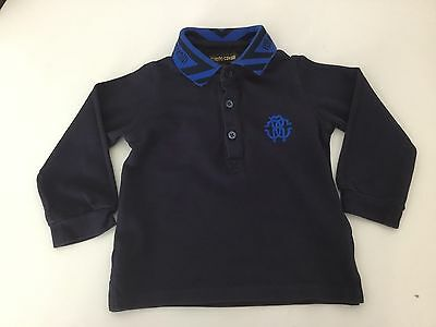 Roberto Cavalli Baby Boys Polo Top Age 18m Months Collared Long Sleeve
