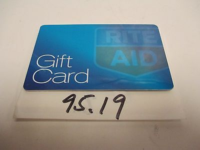 Rite Aid In Store Merchandise Credit gift card $95.19