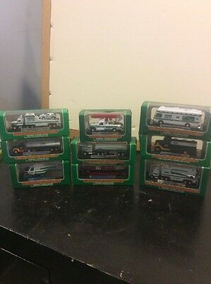 Mini Hess Trucks Lot Of 9!  1998-2009!
