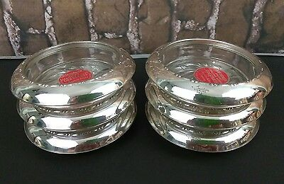 Vintage Non-Tarnish Sterling Silver Amston Silver Co Coaster Set of 6